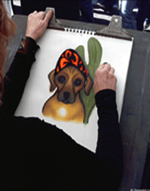 Whimsical Custom Pet Portraits by Artist Robyn Feeley