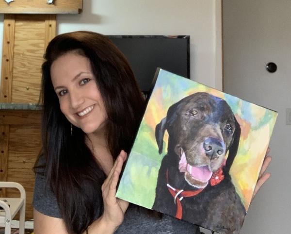 Pet Paintings in acrylic or watercolor - Huntington Beach, CA