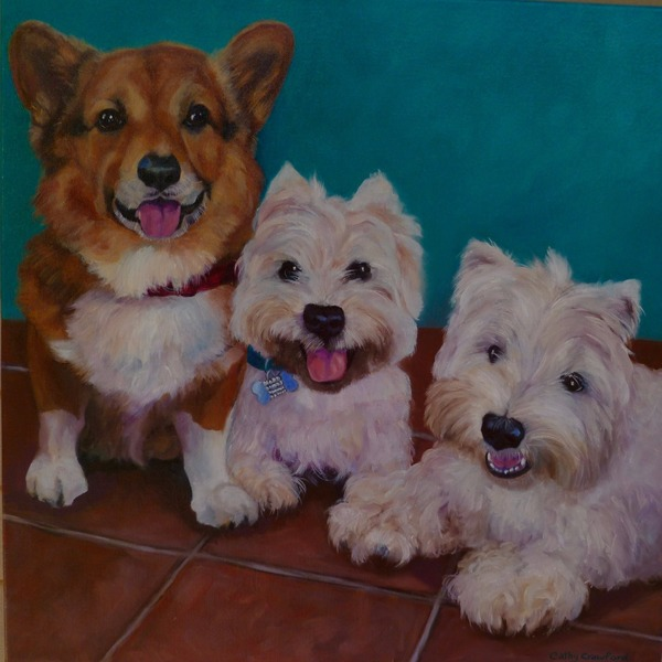 Commissioned Dog Portraits in Oils - Renton, WA