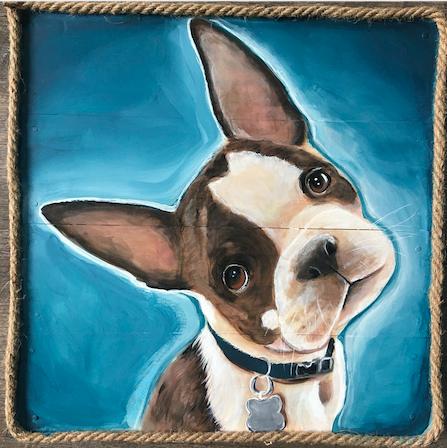 Pet Portrait Paintings on Wood - 100% Handmade  - Snohomish, WA
