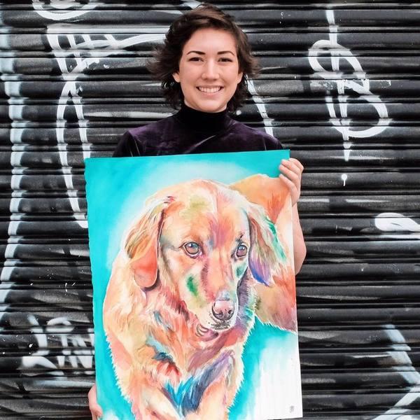 Watercolor Pet Portraits - Brooklyn, NY