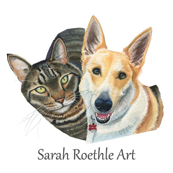 Custom Watercolor Pet Portrait  - Vista, CA