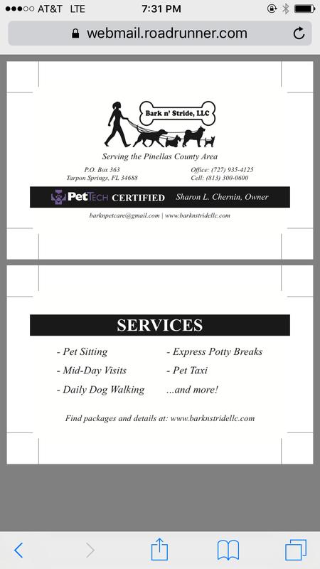 Pet Sitter and Dog Walker - Odessa, FL